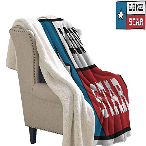 - Willsd Texas Star Baby Blanket Lone Star Flag United States of America Themed Patriotic Design Machine Washable and Drier Safe Cobalt Blue Ruby White W59 x L78