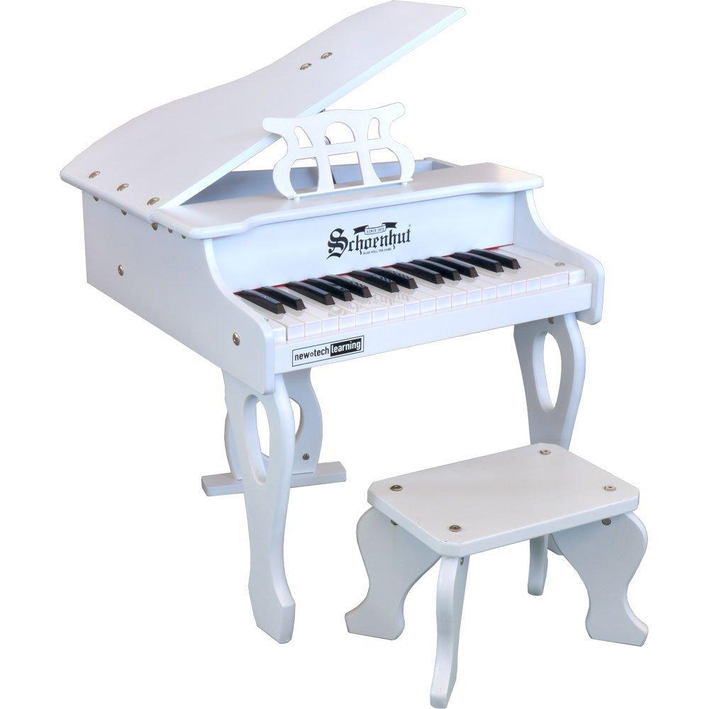 Schoenhut 3017W 30 Key Digital Baby Grand White Piano