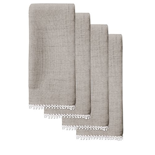 Lenox French Perle Solid Set of 4 Napkins, Dove Grey ()