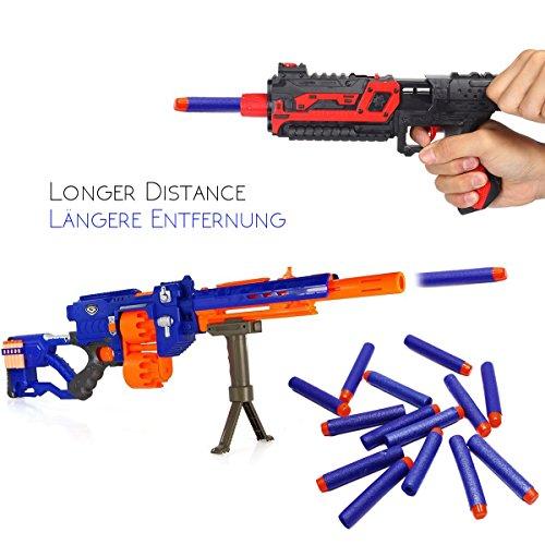 Flèches accessoires de fléchettes pour NERF, 200 pcs Pistolet blaster pour N-Strike Elite, Recharge Jouets de plein air et de la famille, Bleu