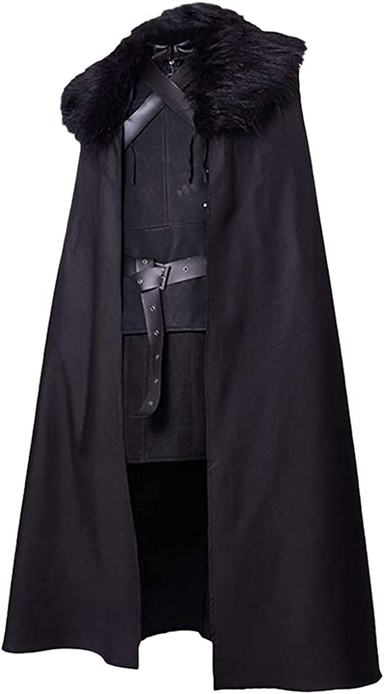 SIDNOR GoT Night's Watch Jon Snow Cosplay Costume Outfit Suit Dress: Clothing