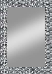 Kristall-Form 25020457 - Espejo de pared, cristal, 50 x 70 cm, color negro y blanco