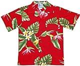 RJC Boys Bird of Paradise Display Rayon Shirt Red 4