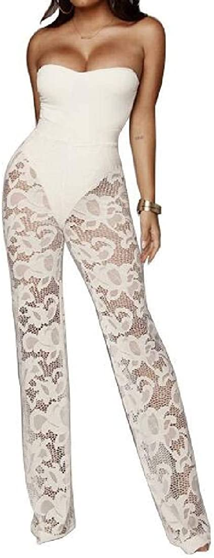 Rrive Womens Open Front Jumpsuit Romper Lace 3 Piece Outfits