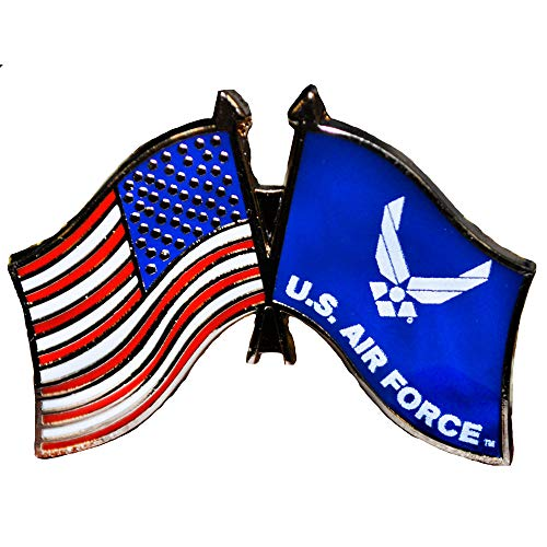 EE, Inc. United States And Air Force Flag Pin Military Collectibles for Men Women, Small
