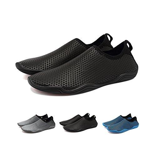 Blankey Water Sportschoenen Sneldrogend Barefoot Flexibele Flats Strand Zwemschoenen Voor Mannen Vrouwen Kinderen Zwart Honingraat