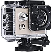 Howley Mini 1080P Full HD DV Sports Recorder Car Waterproof Camera Camcorder (Gold)
