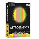 Astrobrights Color Paper - Neon Assortment, 24lb, 8 1/2 x 11, 5 Colors, 500 Sheets