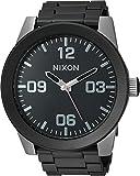 Nixon Men's 'Corporal SS' Quartz Stainless Steel Casual Watch, Color:Black (Model: A3462541-00)