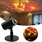 Christmas Light Projector, TOPCHANCES Lighting Landscape Garden Lamp Led Projector Light Show Sparkling Light LED Image Motion for Halloween, Party, Holiday Decoration (Spide Pattern)