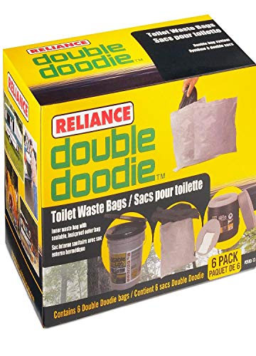 (Reliance Products 2683-03 Double Doodie Toilet Waste Bags (6-Pack))