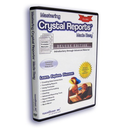 Price comparison product image Mastering Crystal Reports Made Easy Training Tutorial v. 2011,  2008,  11 (XI) & 10 – How to use Crystal Video e Book Manual Guide. Even dummies can learn from this total DVD for everyone,  with Introductory - Advanced material from Professor Joe
