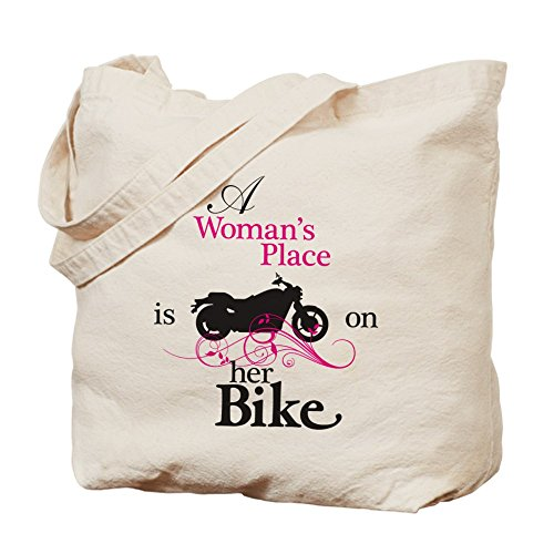 CafePress–Womans lugar, bicicleta flourish–Gamuza de bolsa de lona bolsa, bolsa de la compra