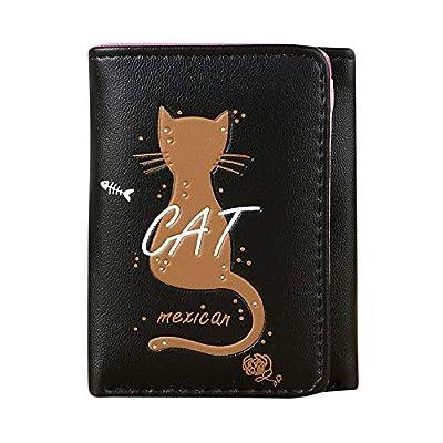 Wallet For Men,Women Simple Cat Short Wallet Coin Purse Card Holders Handbag Package BK,Forms, Recordkeeping & Money Handling