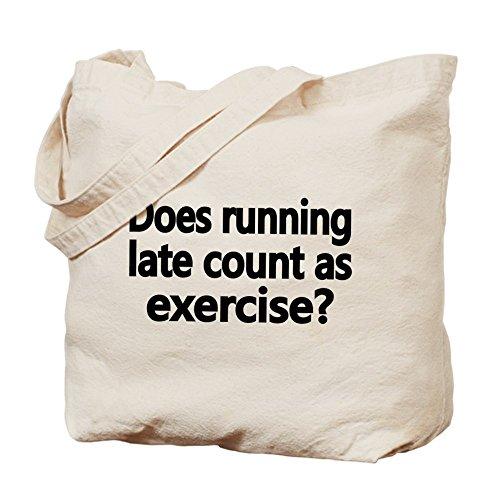 CafePress–hace tarde cuenta como ejercicio–Tote Bag