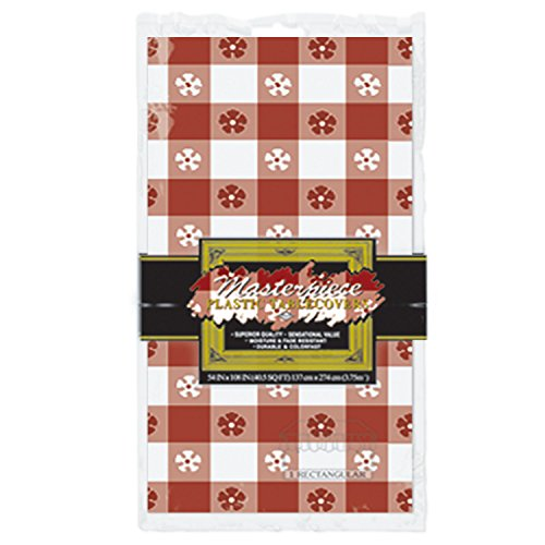 Masterpiece Plastic Gingham Rectangular Tablecover