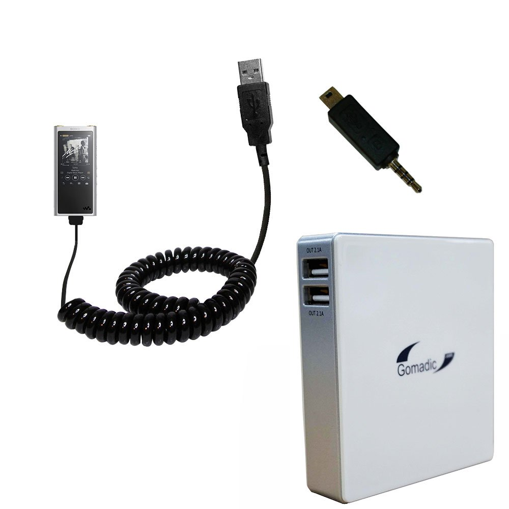 Gomadic High Capacity Rechargeable External Battery Pack suitable for the Sony Walkman NW-ZX300 by Gomadic