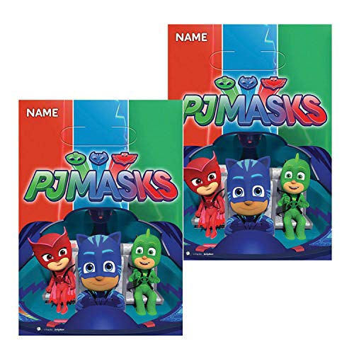 PJ Masks Party Favor Loot Bags 2 Pack - 16 Total Treat Bags Bundled by Curated Nirvana