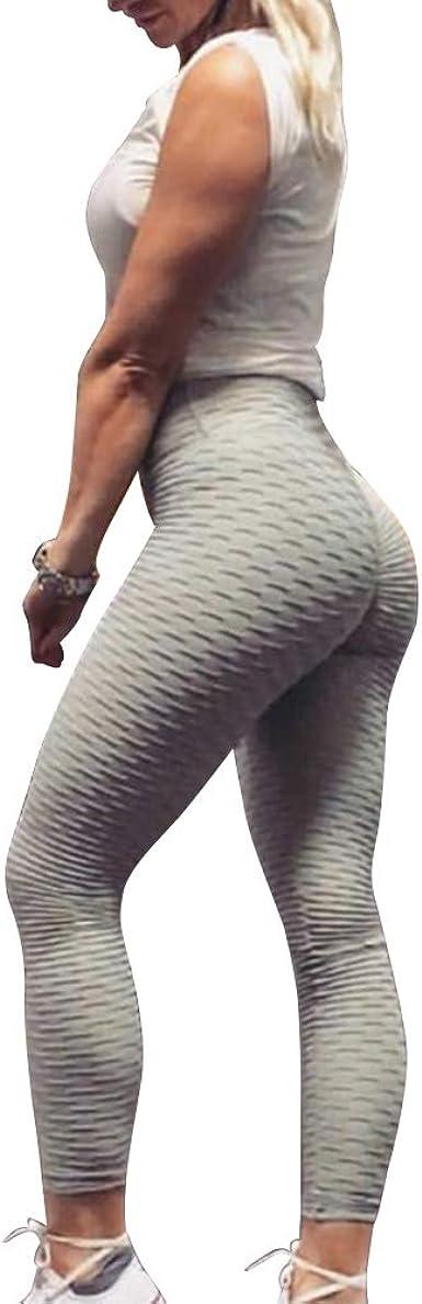 Women High Waist Yoga Pants Butt Lift Leggings Denim Exercise Trousers Workout K