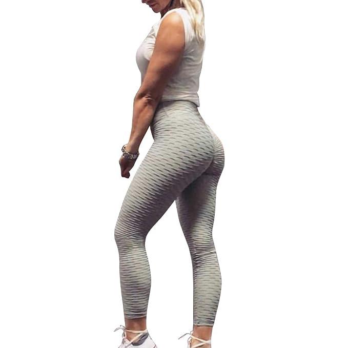 EBILUN Pantalones de Yoga para Mujer Leggings de compresión ...