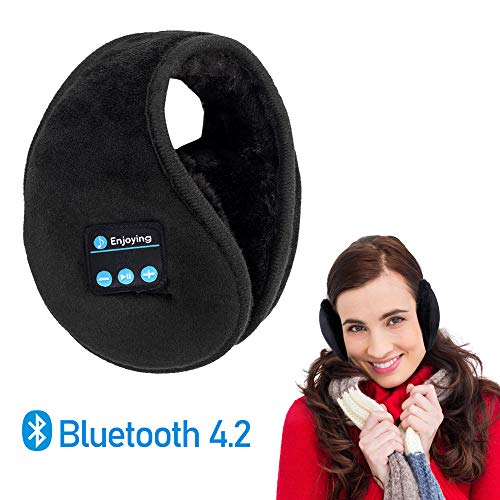 - Bluetooth Earmuffs Headphones - Lavince Unisex Foldable Ear Warmers,Bluetooth V4.2 Wireless Music Earmuffs Headsets with Microphone for Winter Outdoor