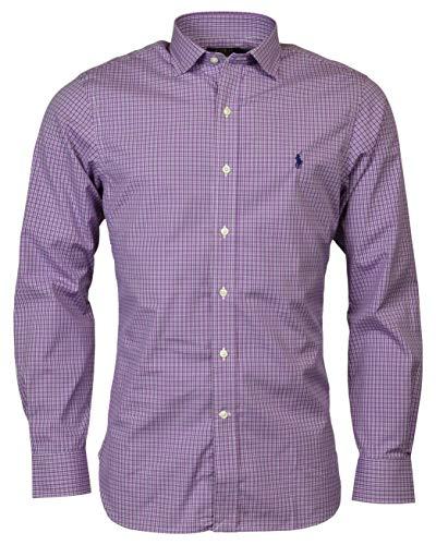 - Polo Ralph Lauren Men's Easy Care Slim Fit Fit Dress Shirt - Purple - 17 32/33