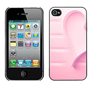 Impact Case Cover with Art Pattern Designs FOR iPhone 4 / 4S Heart Cancer Love Awareness Betty shop