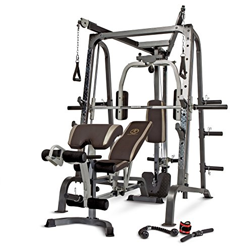 Weight System - Marcy Smith Cage Workout Machine Total Body Training Home Gym System with Linear Bearing MD-9010G