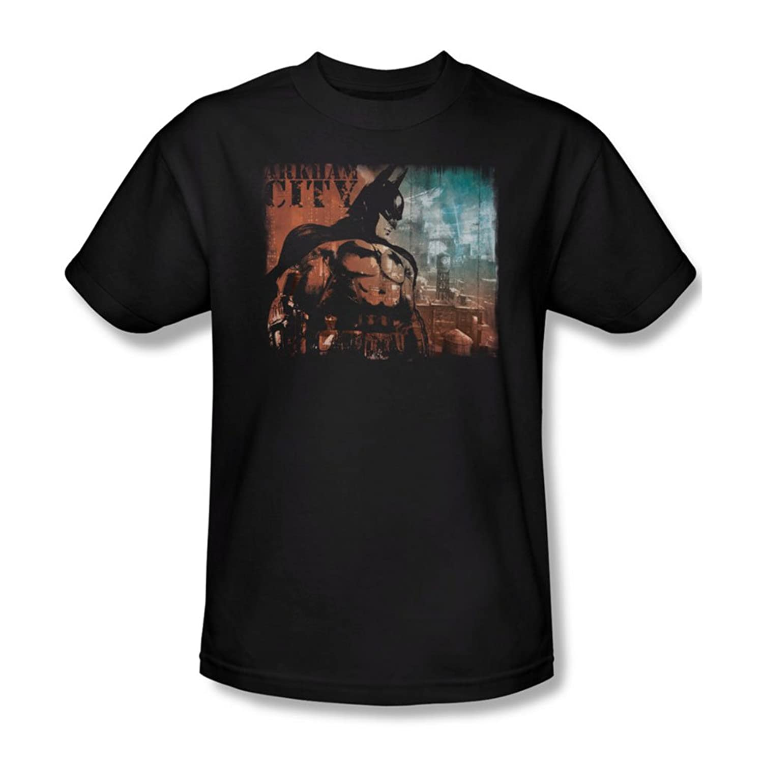 Batman: Arkham City - City Knockout Adult T-Shirt In Black