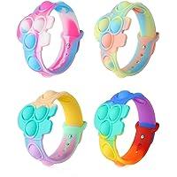 4PCS Pop it Bracelet, Fidget toys Mini Push Pop Bubble Fidget Bracelet, Pop Bracelet Stress Relief Bracelet for Kids And…