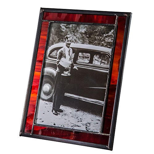 Red Stained Glass  Picture Frame Gift for Dad Graduation