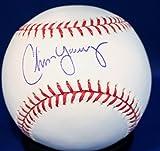 Autographed Chris Young Kansas City Royals Rawlings OMLB Official Baseball - COA