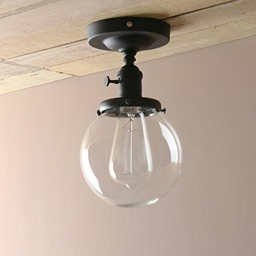 Pathson Industrial Antique Style Dia 5 9 Flush Mount