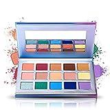 Prism Makeup 15 Colors Eye Shadow Palette Matte Shimmer Metallic Eyeshadow Smoky Eye Makeup Kit