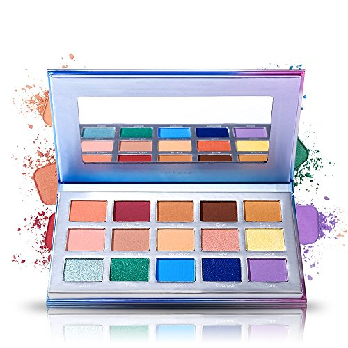 15 Eye shadow Palette Prism Makeup Matte Shimmer Pop Purple Blue Pigmented Glitter Eyeshadow Palette Makeup Pallet Cosmetics