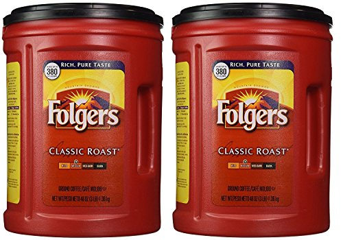 Folgers Classic Roast Ground Coffee (48 oz.)-2PACKS ()