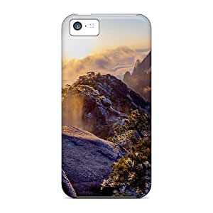 Slim Fit Tpu Protector Shock Absorbent Bumper Sunset Rocks Case For Iphone 5c
