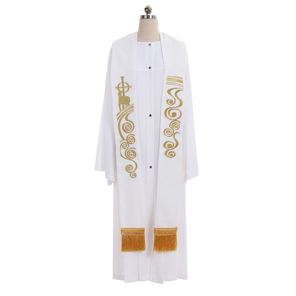 1791's lady Chasuble Catholic Priests Clergy Wedding Embroidery Stole