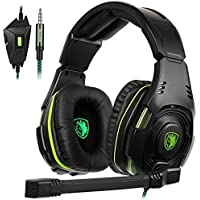 SADES SA938 Multi-Platform Gaming Headset With Mic 3.5MM Jack IN-LINE Volume Control Stereo Low Bass Over-ear Headphones For New XboxOne/PC/PS4/Smartphones