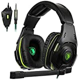 SADES SA938 Multi-Platform Gaming Headset With Mic 3.5MM Jack IN-LINE Volume Control Stereo Low Bass Over-ear Headphones For New XboxOne/PC/PS4/Smartphones For Sale