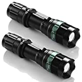 2X Flashlight 10000 Lumen T6 LED Torch Tactical Light Aluminum NEW