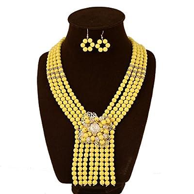 UDDEIN New Nigerian Wedding Jewelry Sets Accessories Women African Beads Jewelry Set