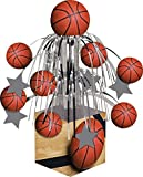 Creative Converting Sports Fanatic Basketball Centerpiece with Mini Cascade and Base, Orange (2-Pack)