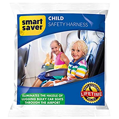 Child Safety Harness Airplane Travel with Free Carry Pouch Bag, Airplane Travel Harness for Safe Flying with Baby, Toddlers - Strictly for Aviation Travel Only