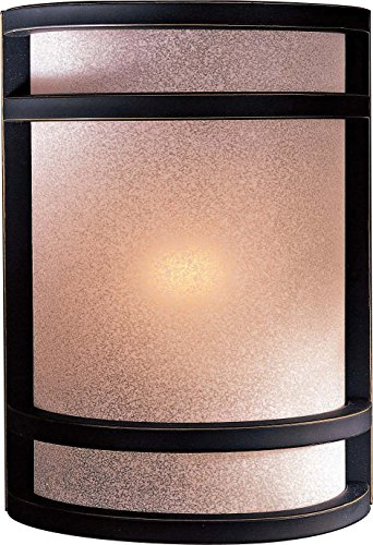Minka Lavery Wall Sconce Lighting 348-37B, Glass Damp Bath Vanity Fixture, 1 Light, 60 Watts, Bronze