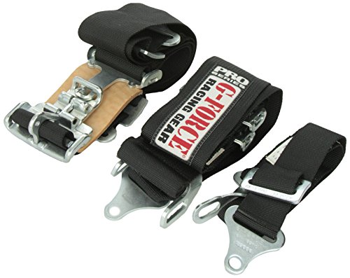 G-Force 6020BK Black 4-Point Pull-Down Latch and Link V-Type Harness (Pull Down Latch)