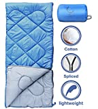 sleeping bag - X-CHENG Sleeping Bags with Portable Compression Bag - 32℉ Available - ECO Friendly Materials - non-toxic - non-polluting - Comes with a complimentary gift. (blue)