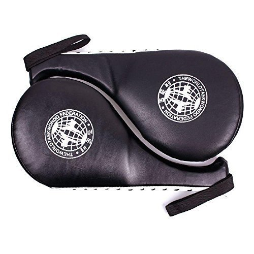 Oliasports Pack of 2 Taekwondo Durable Black Kick Pad Target Tae Kwon Do Karate Kickboxing Training