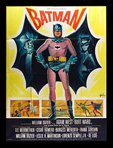 Old Tin Sign Batman 1960s Classic Vintage Movie Poster MADE IN THE USA (Classic Scary Movie Posters)