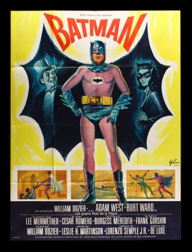 Old Tin Sign Batman 1960s Classic Vintage Movie Poster MADE IN THE USA (Poster 1960)